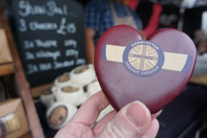 Somerset food and drink Godminster cheese at Wells food festival