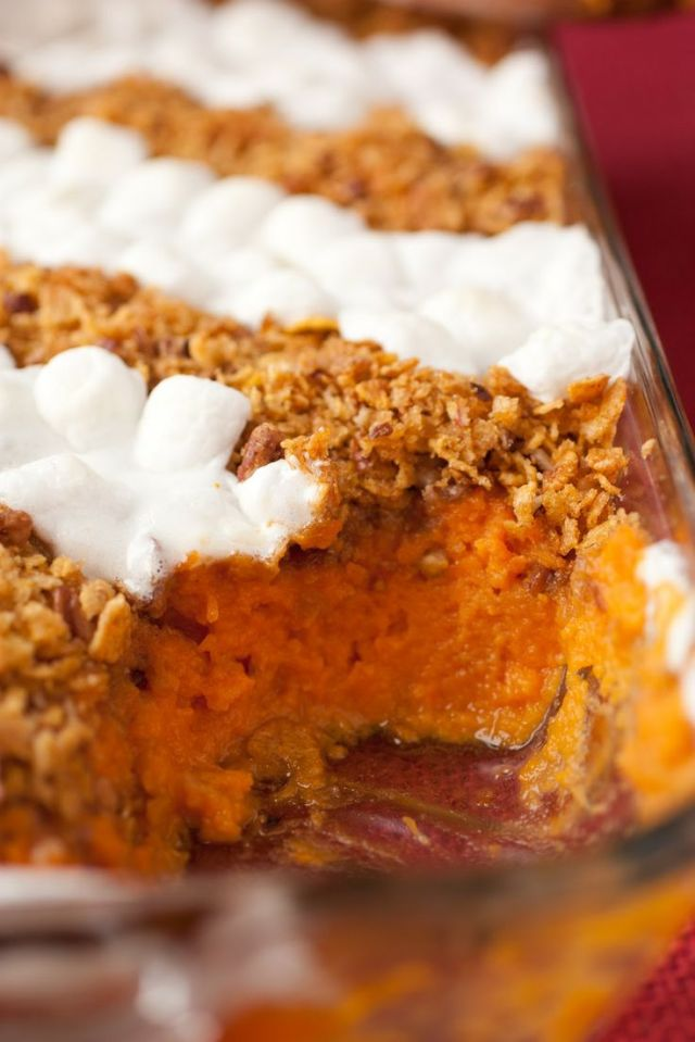 10 Perfect Thanksgiving Side Recipes-Brown Butter Sweet Potato Casserole