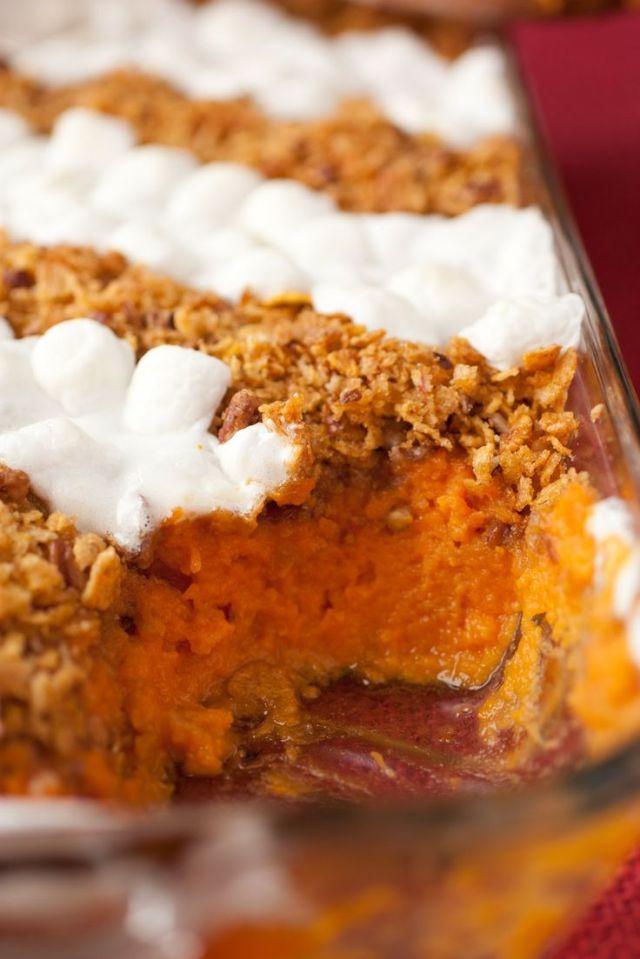 10 Perfect Thanksgiving Side Recipes-Brown Butter Sweet Potato Casserole