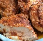 Crispy Spicy Chicken with Orange Ginger Honey Maple Sauce