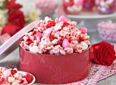 Pink Valentine's Day Popcorn