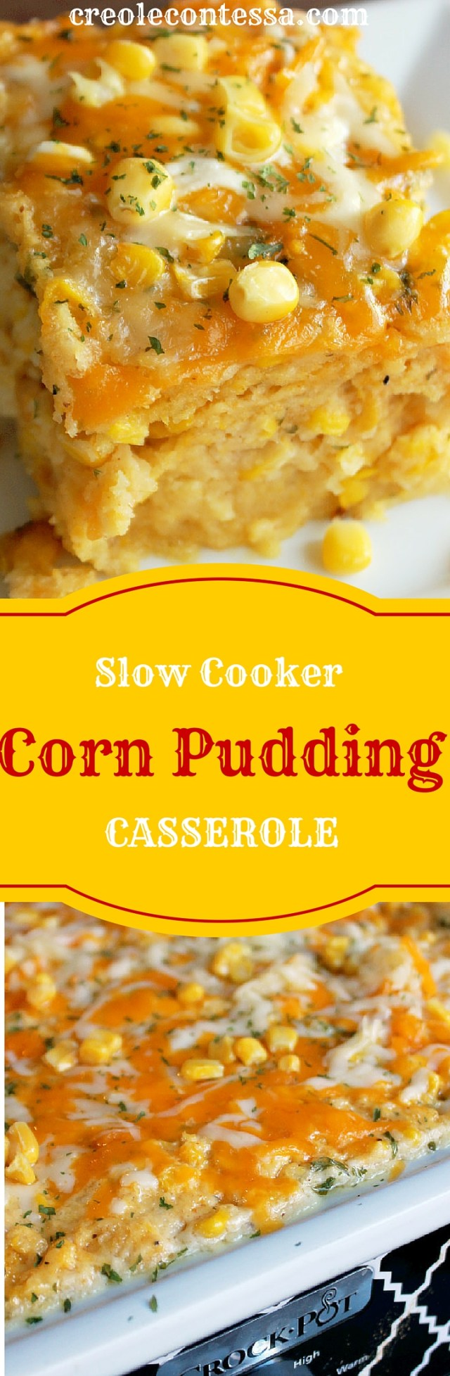 Slow Cooker Cornbread Pudding Casserole