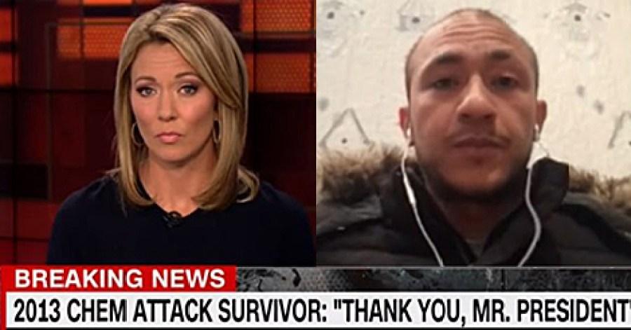 CNN Interview Backfires; 2013 Syrian Chemical Attack Survivor Thanks President Trump