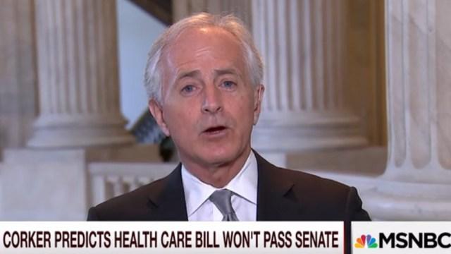 Sen. Corker: Zero Chance GOP Healthcare Bill Passes the Senate