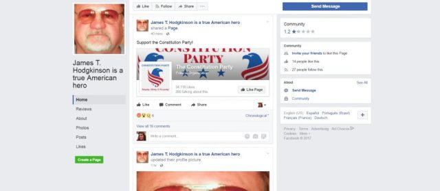 Facebook Page Created PRAISING The GOP Baseball Shooter