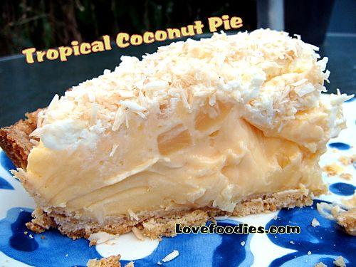 Tropical Coconut Pie