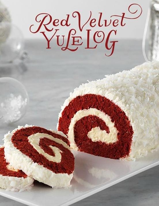 Red Velvet Yule Log