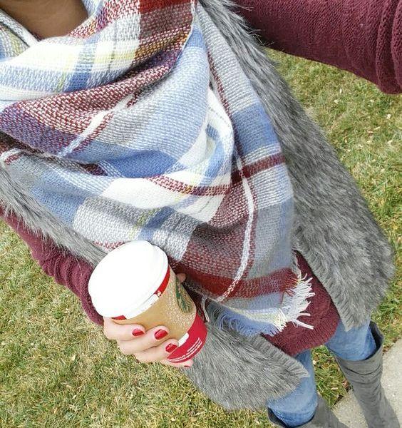 Plaid Blanket Scarf – Style Ideas