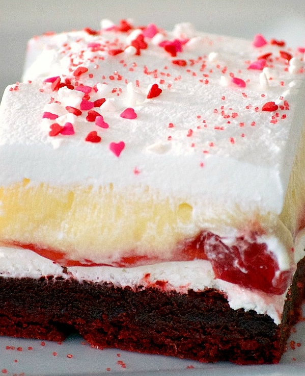 Red Velvet Cherry Dream Bars