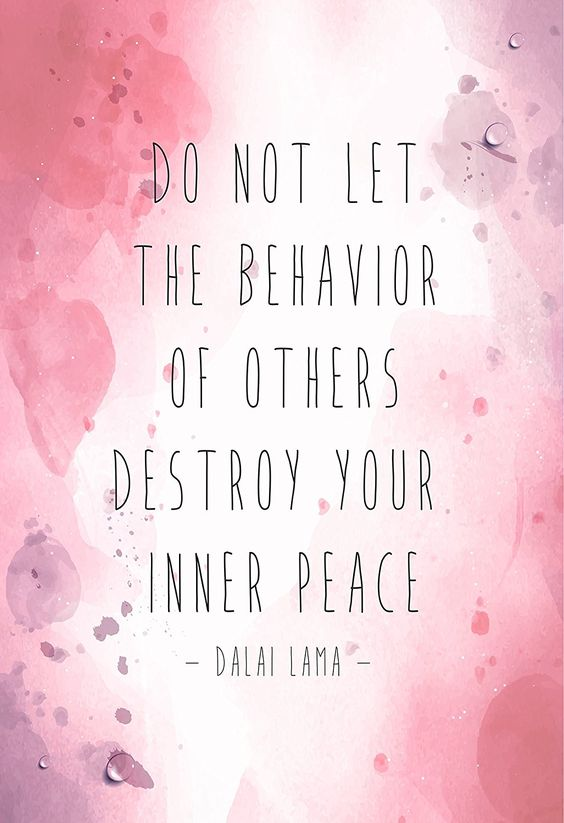 Don't let the behavior of others...QUOTE