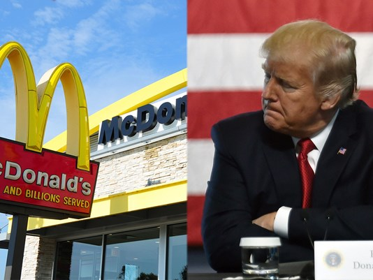 McDonald's Tweet Trashes President Trump