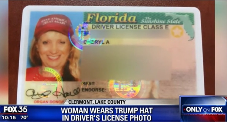 Woman Fights To Wear Trump Hat For Drivers License Photo