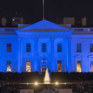 President Trump Lights the White House in Blue to Honor Law Enforcement