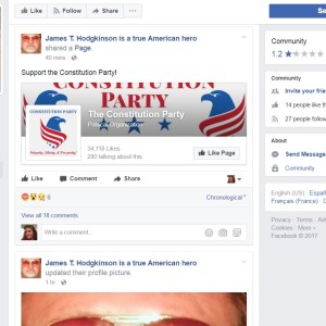 Facebook Page PRAISING The GOP Baseball Shooter
