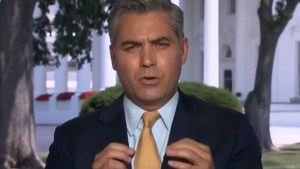 the battle between CNN's Jim Acosta and White House Press Secretary Sean Spicer continues