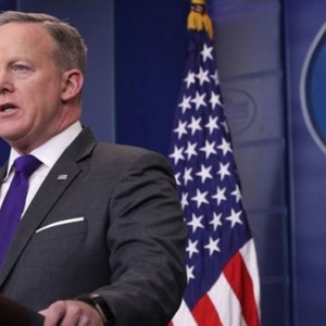 Sean Spicer Handing Over White House Briefing Podium