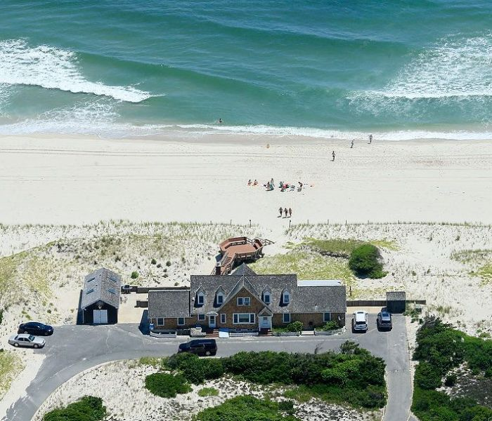 New Jersey Gov. Chris Christie and his family had the beach to themselves Saturday after a budget deadlock closed state-run tourist attractions to the public.