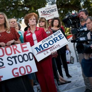'Women for Moore' Rally Outside of Alabama State Capitol