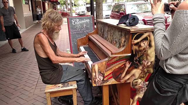 Homeless man who became overnight internet sensation with his amazing piano playing skills turns his life around thanks to $40,000 in donations