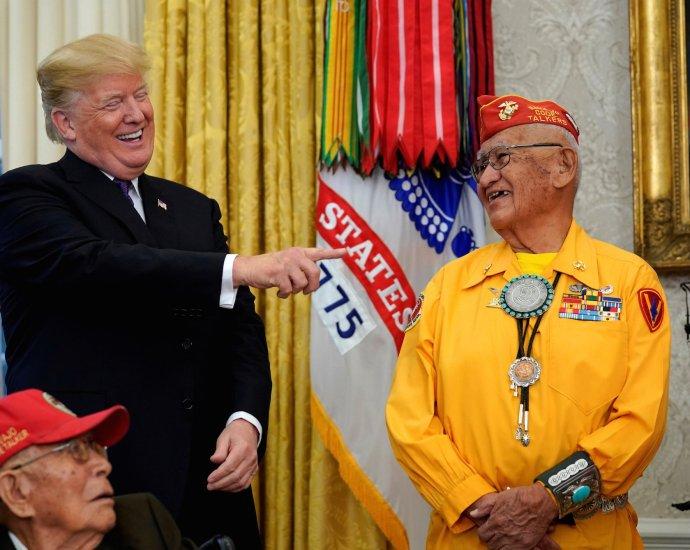 Trump calls Warren 'Pocahontas' at event honoring Native Americans