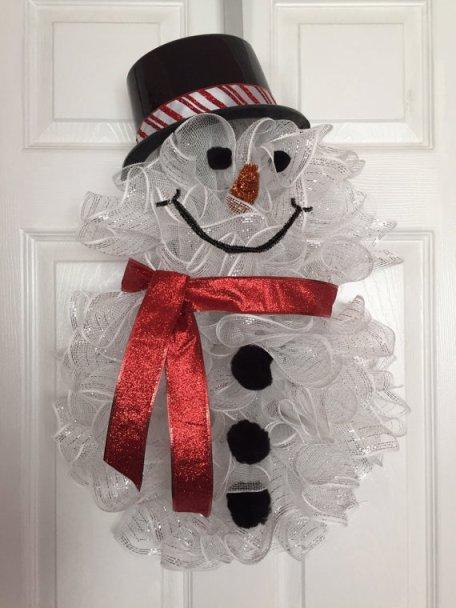 Christmas-Deco-Mesh-Snowman-Wreath