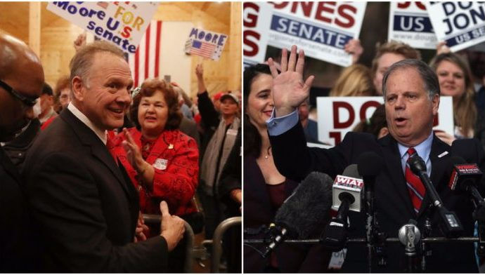 Republican Roy Moore and Democrat Doug Jones are facing off for a Senate seat