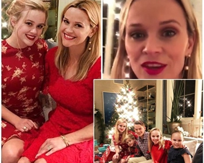 Reese Witherspoon, 41, poses with her mini-me daughter Ava