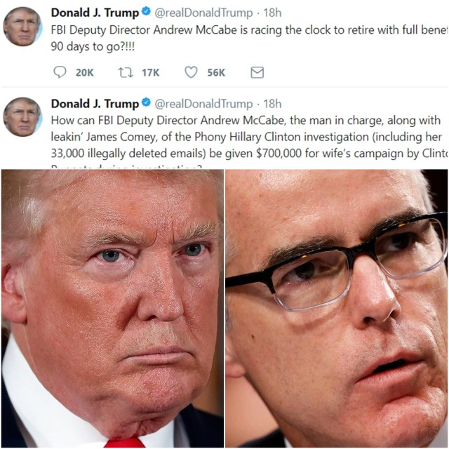Trump Is FURIOUS At Deputy FBI Director Andy McCabe