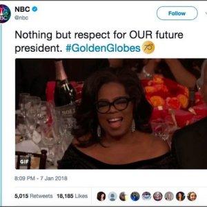 NBC declares Oprah 'our future president' on Twitter, then deletes it