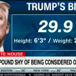 CNN; Trump One Pound From Obese and Three to Five Years From Heart Attack