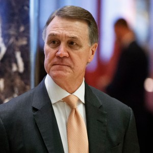 "Sen. David Perdue, R-Ga; ""I'm telling you he did not use that word, George. And I'm telling you it's a gross misrepresentation. How many times do you want me to say that?"" Perdue replied"