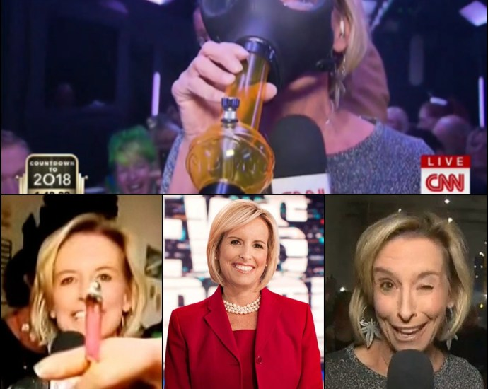 """CNN's Randi Kaye ended 2017 on a """"high"""" note, covering New Year's Eve in Colorado, where recreational cannabis is legal"""