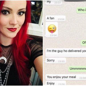 JustEat's delivery man sends unsolicited texts to customer