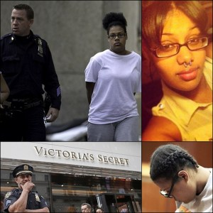 The shoplifting teen mother caught with a dead newborn in a shopping bag at Victoria's Secret in 2013, has pleaded guilty to manslaughter
