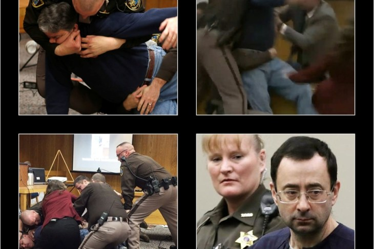 LARRY NASSAR ATTACKED BY VICTIM'S DAD