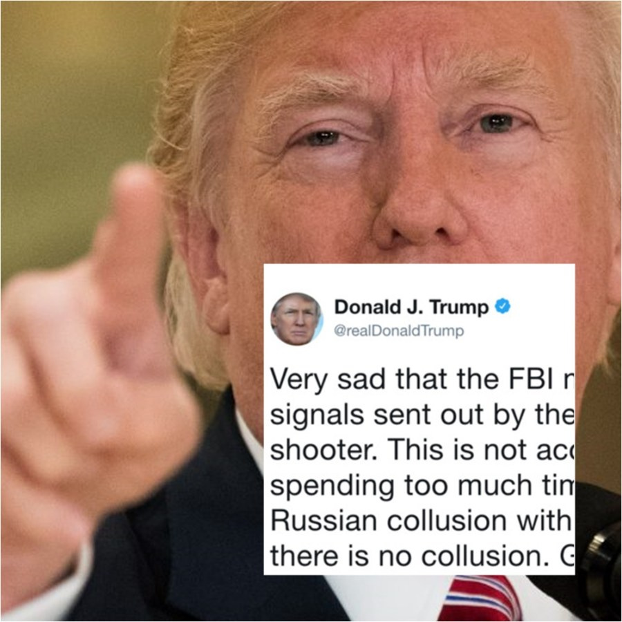 Trump Blames FBI and Russia Investigation For Florida School Shooting