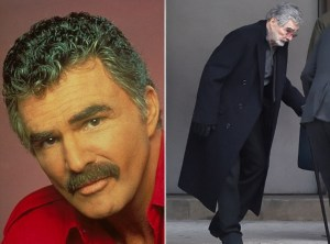 Burt Reynolds, 82, swaps stunts for a walking stick