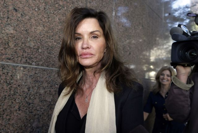 Model Janice Dickinson leaves a hearing in March 2016 about her defamation lawsuit against Bill Cosby in Los Angeles Superior Court. The Associated Press does not typically name people who say they are sexual assault victims, but Dickinson has spoken out publicly. | Associated Press