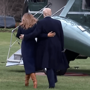 WATCH: Trump's Reaction Goes Viral As First Lady Melania Takes Spill on WH Lawn