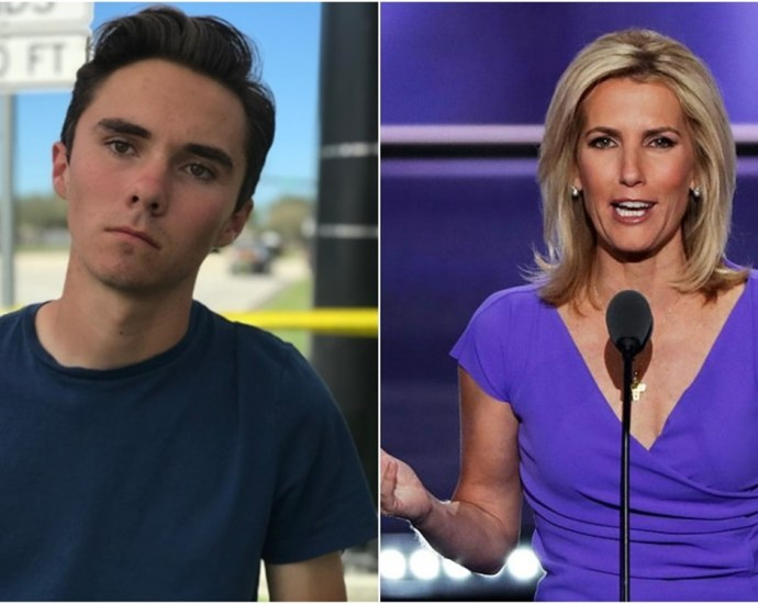 David Hogg Calls For Boycott Of Laura Ingraham After She Tweets About Hogg's College Rejections