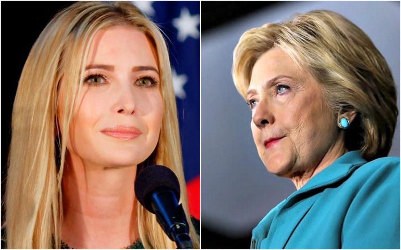 """WATCH: Hillary's Reaction As She's Told Ivanka Trump Could Be """"First Female President"""""""