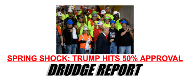 President Trump's Approval Rating Hits 50%