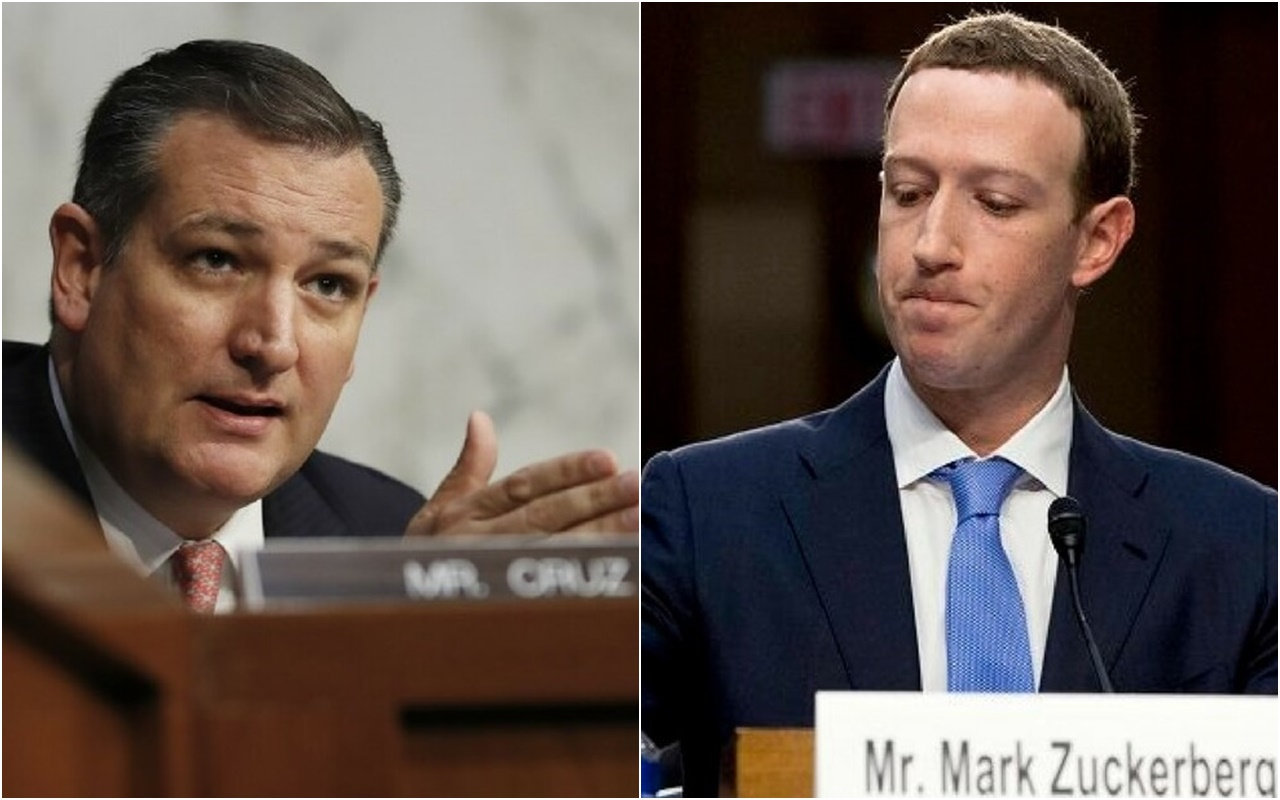 Ted Cruz grilled Facebook founder and CEO Mark Zuckerberg over claims his social media platform is politically biased