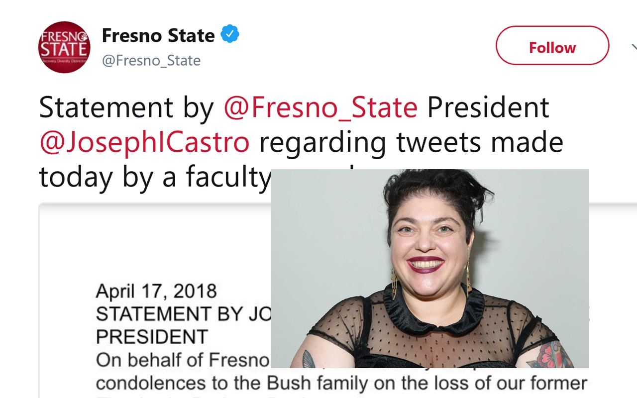 Fresno State Won't Condemn Vile Professor Who Rejoiced Over The Death Of Barbara Bush