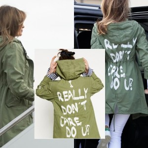 Melania Trump Wears 'I DONT CARE' Jacket To Visit Migrant Kids In Texas