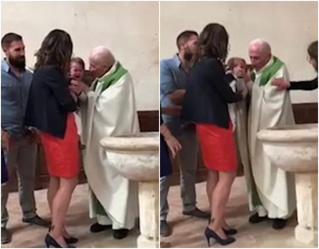 Priest SLAPS Baby Because It Won't Stop Crying During Baptism
