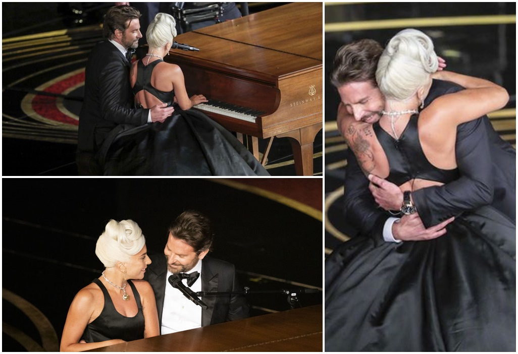 """Bradley Cooper and Lady Gaga deliver steamy performance of """"Shallow"""" at the Oscars"""