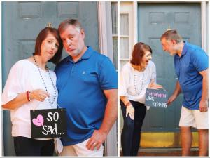 "'So sad... just kidding!': Parents Celebrate Becoming ""Empty Nesters"" in Hilarious Photo Shoot"