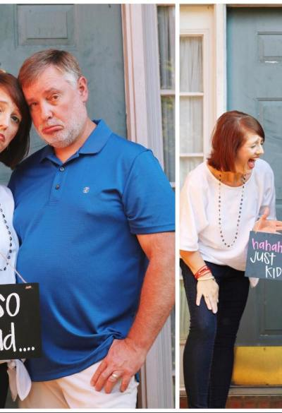 """'So sad… just kidding!': Parents Celebrate Becoming """"Empty Nesters"""" in Hilarious Photo Shoot"""