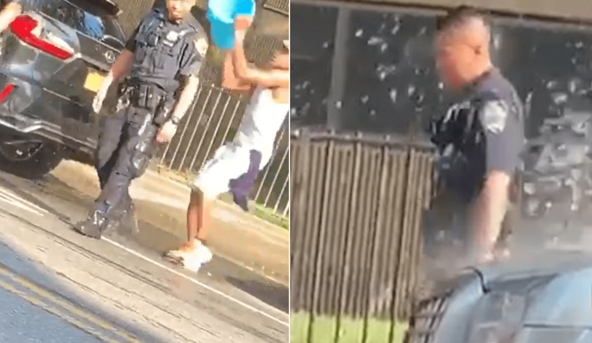 Videos Spark Outrage Over NYPD Officers Doused With Buckets Of Water